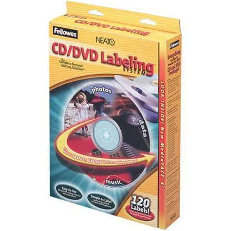 fellowes cd label kit 99940