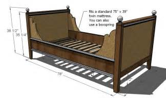 Daybed Construction Plans White Lydia Daybed Diy Projects