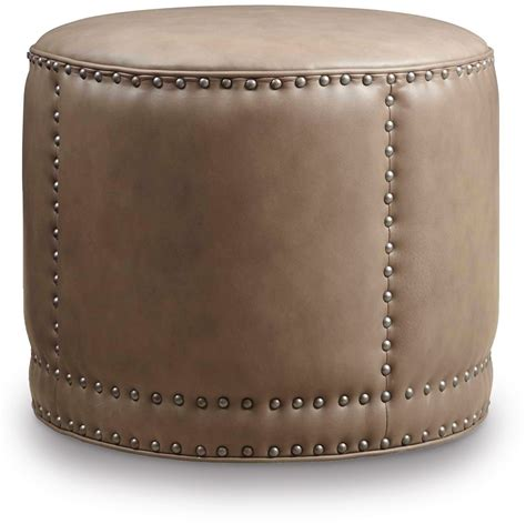 round leather cocktail ottoman dowdy beige round cocktail leather ottoman co389 084