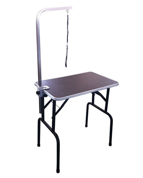 grooming tables small 30 quot folding pet grooming table portable adjustable with arm noose new ebay