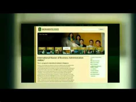 State Global Mba Program by Sacramento State College Of Business International Mba