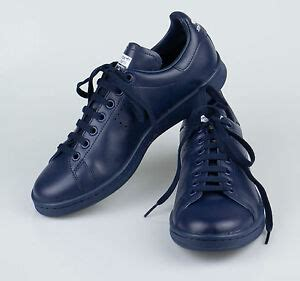 new adidas raf simons stan smith navy blue leather sneakers shoes 12 45 455 ebay