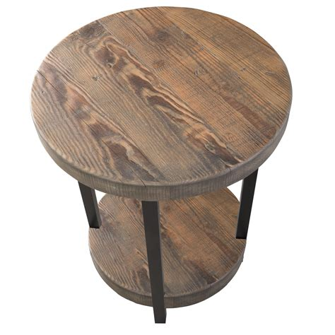 20 inch round table loon peak somers 20 quot round reclaimed wood metal end table