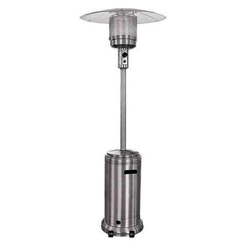 Patio Heater Wheels Sense 46 000 Stainless Steel Propane Lp Patio Heater W Wheels
