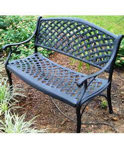 overstock outdoor bench nassau cast aluminum garden bench free shipping today