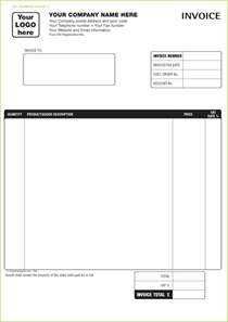 Word Custom Template by Free Invoice Templates Custom Printed Invoices