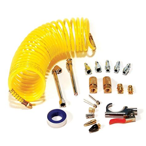 primefit ik1016s 20 air accessory kit with 25 foot recoil air hose 20 pieces