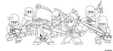 coloriage ninjago equipe complete lego dessin dessin