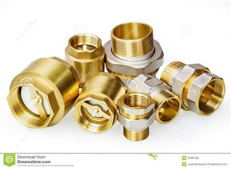 Plumbing Fixture Parts by Plumbing Fixtures And Piping Parts Royalty Free Stock