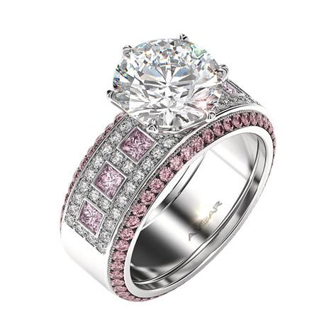 Pink Sapphire Engagement Rings by Pink Sapphire Engagement Ring Set Windows