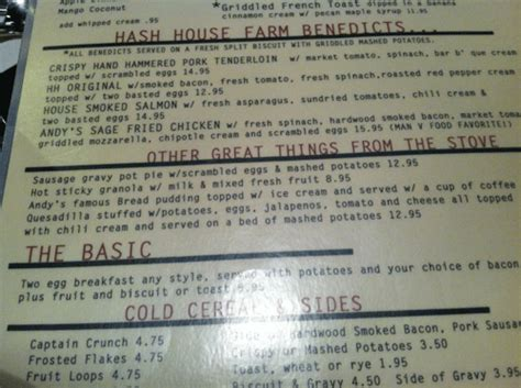 hash house menu hash house menu 28 images the florida dine and dash