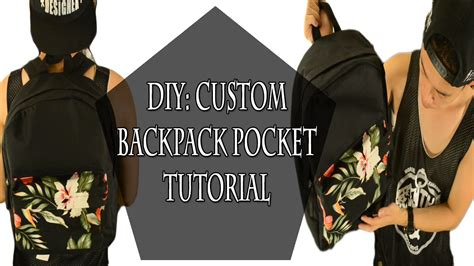 diy custom backpack pocket tutorial kad customs 33