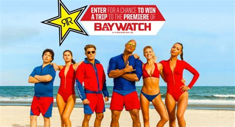 energy drink jaw rockstar teams up with baywatch promomarketing