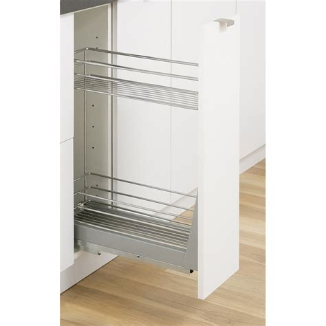kitchen cabinets bunnings kaboodle 200mm 2 tier soft close pull out baskets