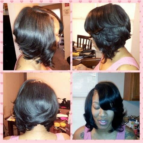 bob haircut quick weave quick weave bob sew in weave pinterest