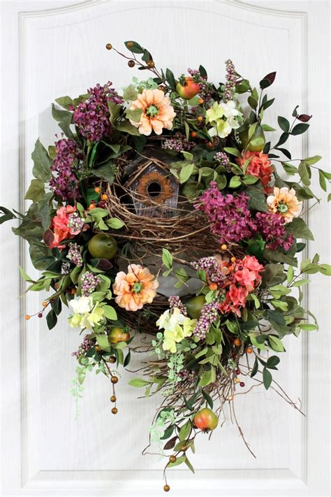 Front Door Wreaths Front Door Wreath Wreath Country Wreath Hydrangeas Rustic