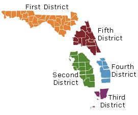 florida circuit court map district courts of appeal