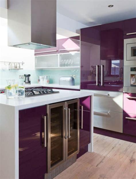 Formidable Modele Plan De Travail Cuisine #4: cuisine-meuble-violet.jpg