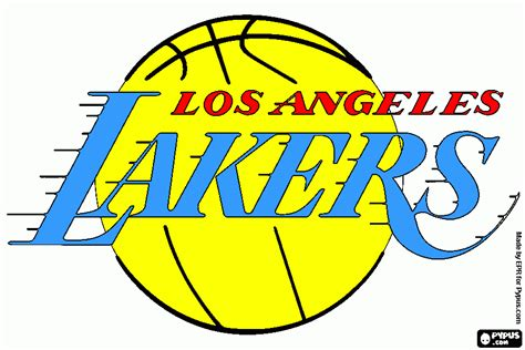 lakers colors lakers free coloring pages