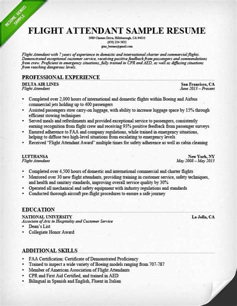 Resume For Cabin Crew Fresher by 43 Inspirational Pics Of Fresher Cabin Crew Resume Sle