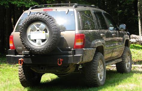 jeep wj rear bumper c4x4 wj grand rear bumper 99 01 wj rb99