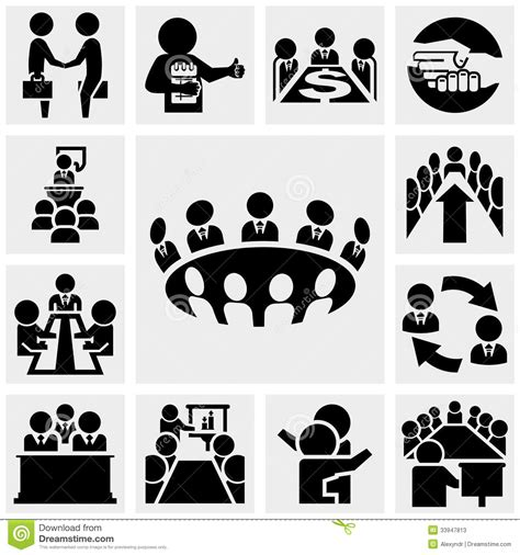 office and business vector icons set on gray royalty free stock images image 33973149 business vector icons set on gray stock vector illustration of meeting company 33947813
