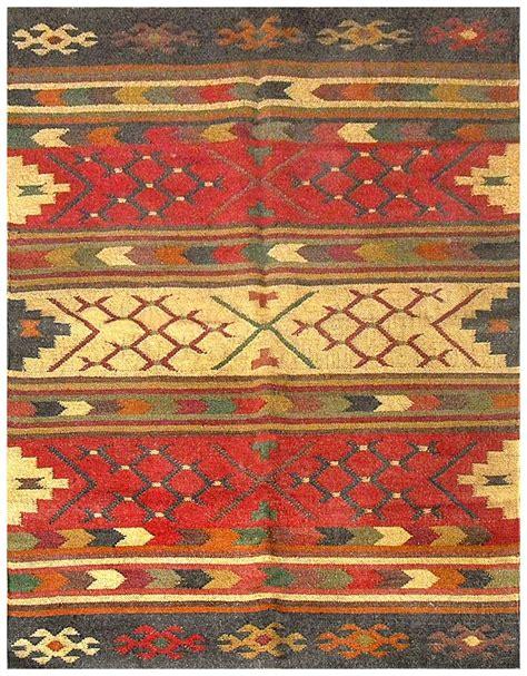 southwestern flat weave multi wool jute handmade rug