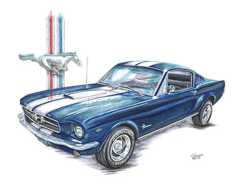 mustang drawing mustang drawing 1965 ford mustang by shannon watts