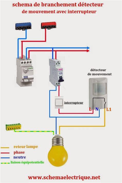 Installation Detecteur De Mouvement sch 233 ma electrique simple d 233 tecteur de mouvement sch 233 ma