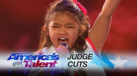 americas youngest outcasts angelica hale 9 year old earns golden buzzer from chris