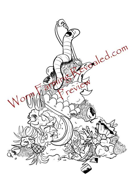 color worm worm coloring pages