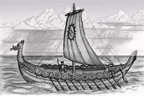 how to draw a viking boat viking longboat drawing www pixshark images