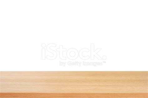 white table top wood table top on white background stock photos