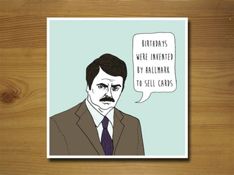 Swanson Birthday Quote Items Similar To Ron Swanson Parks And Recreation