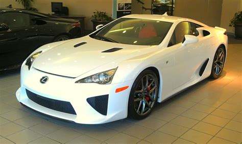 Lexus Beverly The Whitest White Lfa With And Black Interior