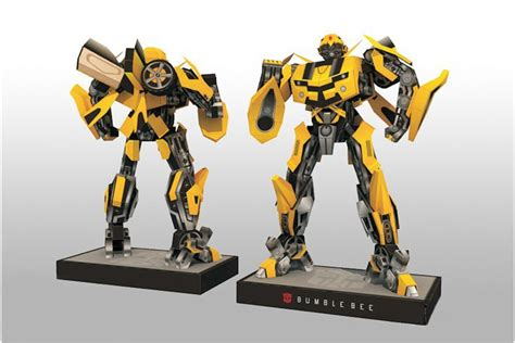 How To Make A Paper Transformer Bumblebee - bumblebee 3d diy transformers with base design papermodel