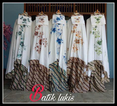 Mukena Lukis Dewi Sri Motif Bali batik sekar lukis mukena bunga bali tsurayya