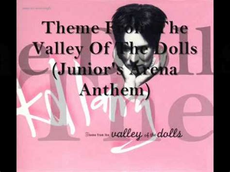 theme song valley of the dolls lyrics k d lang theme from the valley of the dolls k pop
