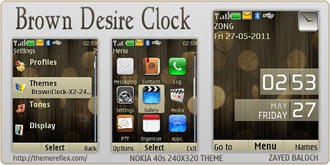 themes clock nokia x2 brown desire clock theme for nokia x2 240 215 320 themereflex