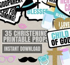 Baby Christening Photo Booth Prop Baby Baptism Photo Booth Prop Christening Printable Baby Baptism Photo Booth Template