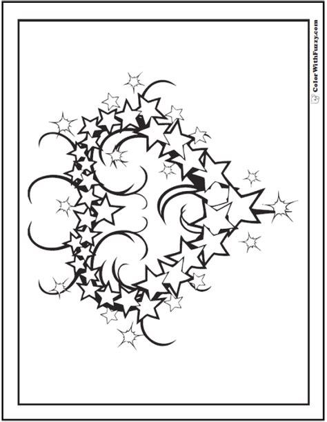 coloring pages for adults star fourth of july coloring pages print and customize