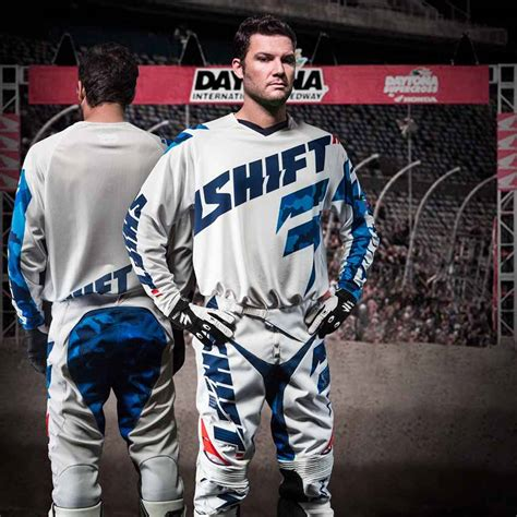 shift motocross boots shift new mx gear faction daytona le camo white blue