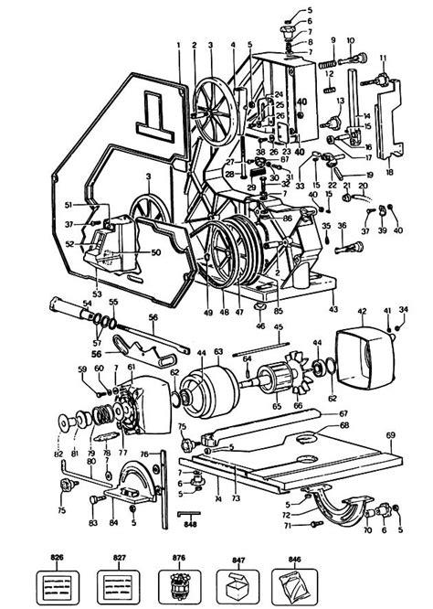black decker ersatzteile black decker bd339 a type 1 bandsaw spare parts