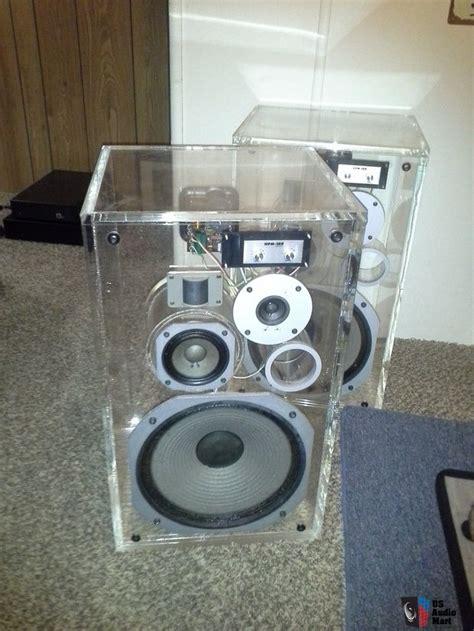 rare dealer demo pioneer hpm  acrylic   speakers