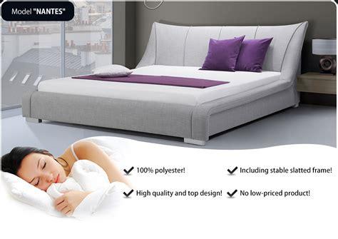 futon nantes upholstered bed king size furniture bedroom grey