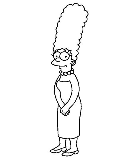 marge simpson cute simpsons coloring pages rock painting coloring books