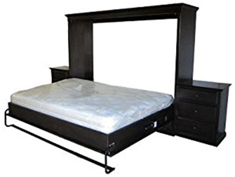 horizontal murphy bed queen amazon com murphy bed with two nightstands horizontal