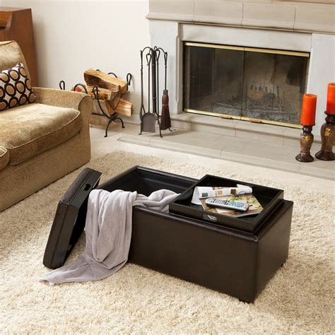 living room tray storage ottomans with tray storage ottoman tray in