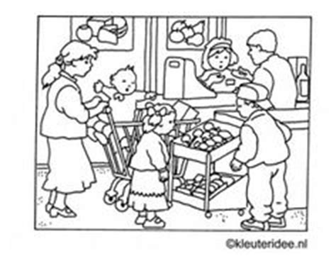 preschool coloring pages grocery store thema winkel kleuters shop theme for preschool march 233