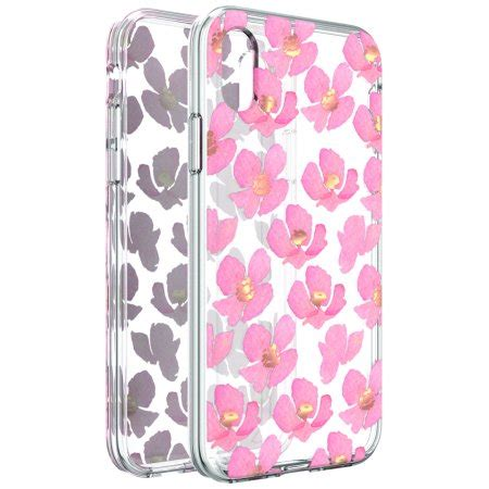 onn clear floral phone for iphone xs max walmart